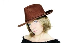 Free Beautiful Cowgirl Royalty Free Stock Photography - 2389377