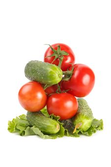 Free Tomatoes And Cucumbers Cluster Stock Photo - 2389510