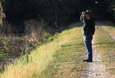 Free Man With Binoculars Royalty Free Stock Photos - 2389968