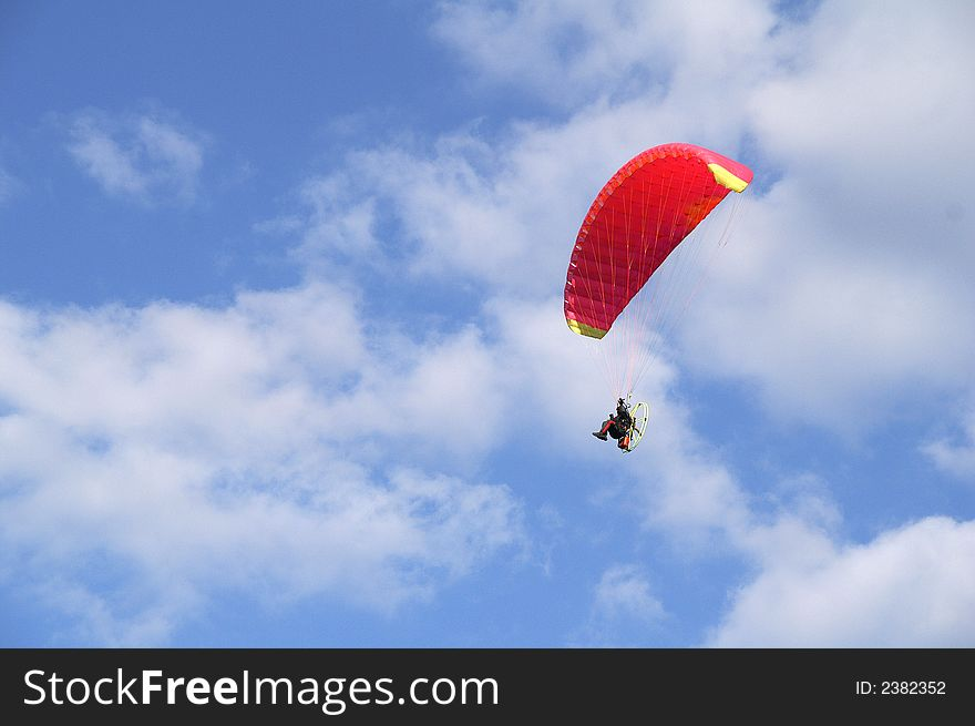The paragliding