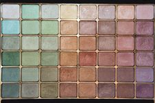 Eyeshadow Palette Royalty Free Stock Image