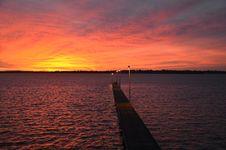 Free Beach Jetty Sunset Stock Images - 23816944