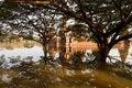 Free Floods Chaiwatthanaram Temple At Ayutthaya Stock Image - 23825011