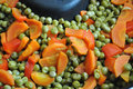 Free Carrot, Red Pepper And Peas Stock Images - 23825804