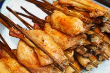 Free Roasting Chicken, Thailand S Food Style Royalty Free Stock Photos - 23821338