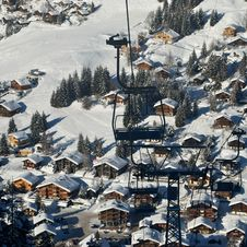 Free Chair Lift Ski Resort Stock Photos - 23821473