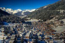 Free Swiss Ski Village Stock Photography - 23821482