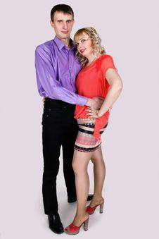 Free Portrait Of A Cute Young Couple Stock Photography - 23822062
