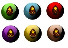 Free Buttons With Easter Eggs Royalty Free Stock Image - 23823096