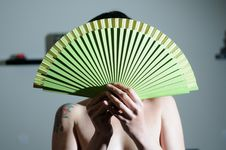 Free Attractive Woman With Spanish Fan Stock Photo - 23824920