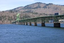 Free Long Bridge Of Hood River Oregon. Royalty Free Stock Photo - 23825885
