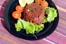 Free Raw Ground Beef With Vegetables Royalty Free Stock Image - 23828866