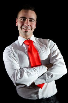 Smiling Young Businessman Royalty Free Stock Photo