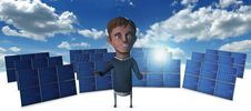 Free Solar Man 3 Royalty Free Stock Photos - 23829438
