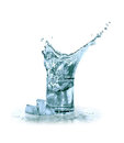 Free Water With Ice Royalty Free Stock Photo - 23834935