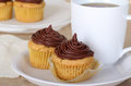 Free Cup Cake And Coffee Stock Photos - 23836103