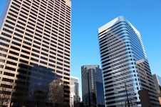Free Downtown Denver Skyscrapers Royalty Free Stock Photo - 23830205