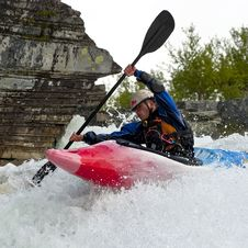 Free Kayaker In The Waterfall Stock Images - 23831994