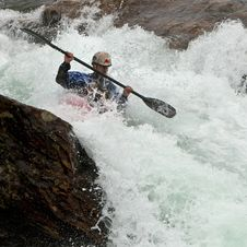 Free Kayaker In The Waterfall Stock Images - 23832004