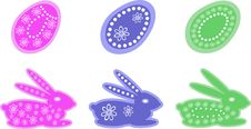 Free Easter Pattern With A Rabbit And Egg Stock Image - 23836191