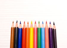 Free Colored Pencils Royalty Free Stock Photo - 23837335