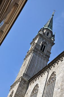 Gothic Church Details, Salzburg, Austria Stock Photography