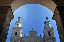 Free The Baroque Dome Cathedral Of Salzburg, Austria Stock Photos - 23839863