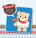 Free Teddy Bear Greeting Card Stock Photography - 23849412