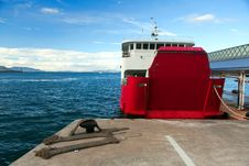 The Ferry At The Pier Royalty Free Stock Photography