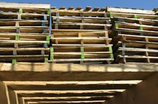 Free A Stack Of Pallets Royalty Free Stock Image - 23840036