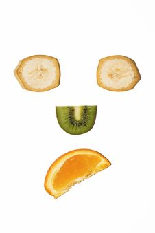 Fruit Sad Face Stock Photography