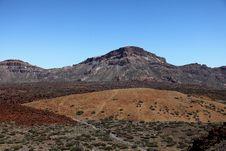 Free Lava Fields On The Spanish Island Of Tenerife Royalty Free Stock Image - 23842946