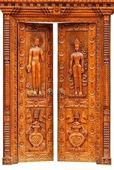 Free Teak Wood Carving Door Stock Images - 23847124