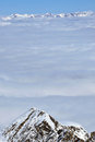Free Clouds And Fog Above, Winter Landscape In The Alps Stock Photography - 23852892