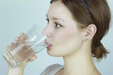 Free Young Woman Drinking Water Royalty Free Stock Photo - 23851105