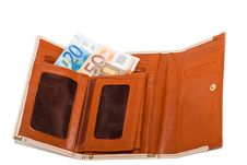 Free Wallet With Monetary Denominations Stock Photography - 23851112