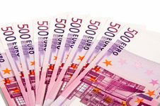 Free 500 Euros Lie A Fan Royalty Free Stock Photography - 23851377