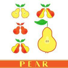 Free Combination Of Pears Stock Photo - 23856320