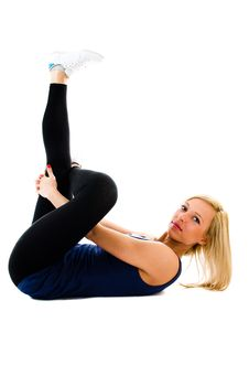 Free Floor Crunches Stock Photo - 23861330