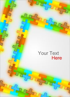 Color And Glossy Puzzle Frame Background Royalty Free Stock Photos