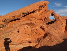 Photographer At Valley Of Fire Stock Photo