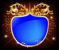 Free Elegant Shield Blue Background Royalty Free Stock Image - 23868526