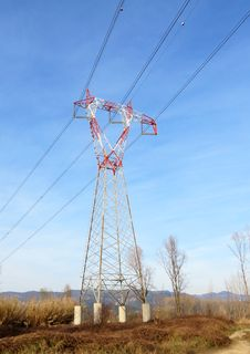 Free Power Line Pylon Royalty Free Stock Photos - 23869588