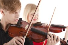 Free Image Of Musicians Playing Violins Royalty Free Stock Image - 23869596