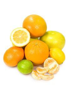 Assorted Citrus Fruits Royalty Free Stock Photos