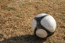 Free Soccer Ball On The Field Stock Photography - 23870202