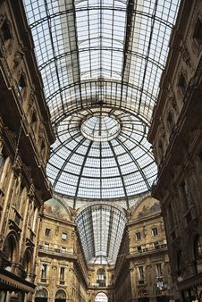 Free Postcard From Milan - Vittorio Emanuele Gallery Royalty Free Stock Photos - 23871558
