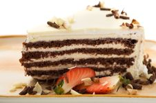 Free Cake With White Chocolate Stock Images - 23872294