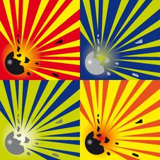 Free Explosions Background Royalty Free Stock Photo - 23873415