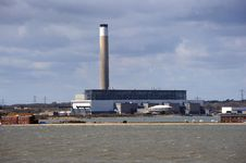 Free A Coastal Power Station Royalty Free Stock Photo - 23874015